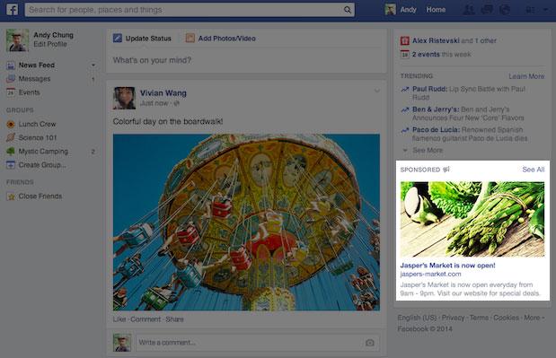 Facebook reklamy