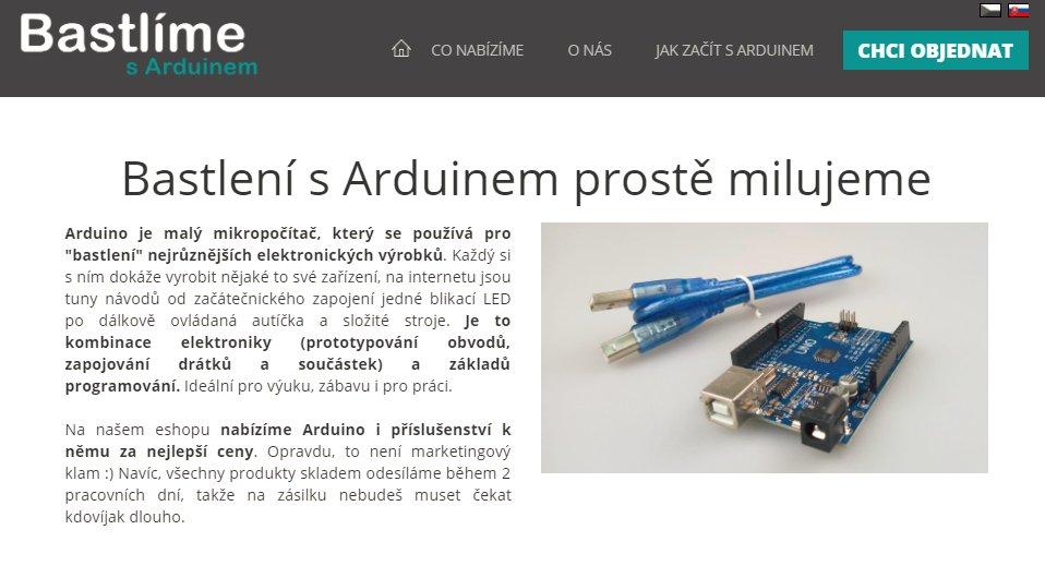 Bastlíme - eshop s Arduinem screenshot