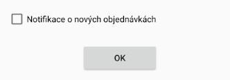 exitshop widget notifikace