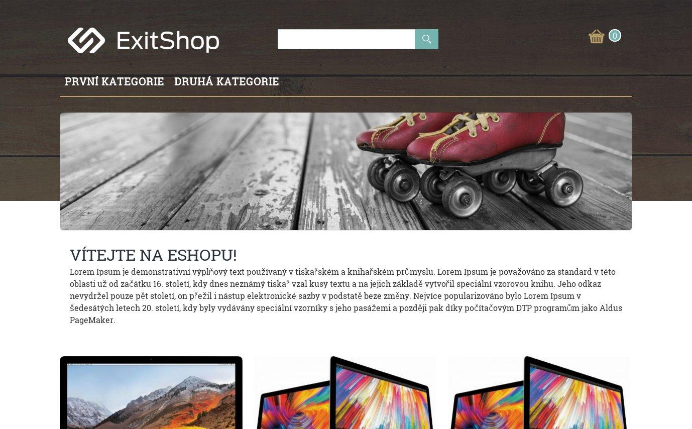 ExitShop Hipster šablona